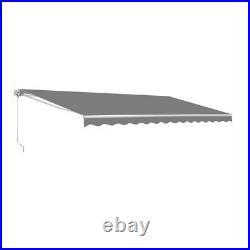 ALEKO Retractable Patio Awning 13 X 10 Ft Deck Sunshade Canopy Grey Color