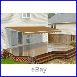 ALEKO Retractable Patio Awning 6.5 X 5 Ft Deck Sunshade Sand Color