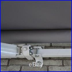 ALEKO Retractable Patio Waterproof Awning 12X10 Ft Deck Sunshade Grey Color