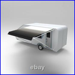 ALEKO Retractable RV Home Patio Canopy Awning, White to Black Fade Color 10'X8