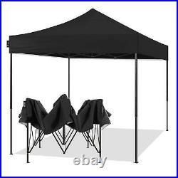 AMERICAN PHOENIX 10x10 Ft Black Pop Up Canopy Tent Portable Instant Sun Shelter