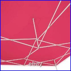 AMERICAN PHOENIX 10x10 Ft Pink Pop Up Canopy Tent Portable Beach Sun Shelter