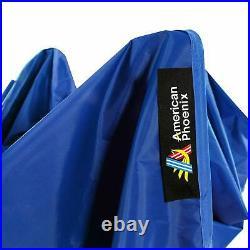 AMERICAN PHOENIX 10x20 Ft Blue Canopy Tent Pop Up Portable Instant Commercial