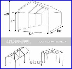 Abba Patio ExtraLarge Heavy Duty Carport withRemovable Sidewalls Portable Garage