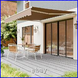 Aluminum Patio Awning Retractable Sun Shade Window Door Canopy Cover Deck Awning