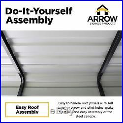 Arrow Carport, 10 ft. X 15 ft. X 7 ft. Eggshell