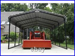Arrow Sheds 12x20x7 Metal Carport Canopy Wind Snow Rated Truck Cover Shelter