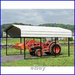 Arrow Storage Galvanized Steel Carport