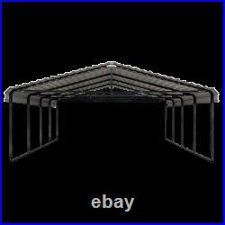 Arrow Storage Products Carport, 20 ft. X 20 ft. X 7 ft. Charcoal