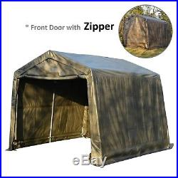 Auto Shelter 10x10x8ft Portable Garage Storage Shed Steel Canopy Carport Tent