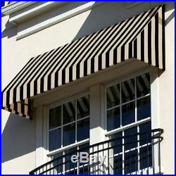 Awntech Beauty-mark Black Tan New Yorker Window Entry Awning 3' Cn32-3kt