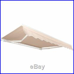 BCP 98x80in Retractable Aluminum Patio Awning