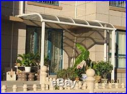 Beautiful and new balcony aluminum alloy canopy avoid burning sun light and dirt