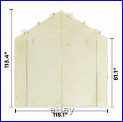 Best Garage Tent Carport Car Shelter Big Portable Cover Enclosure Tan 10x20 NEW