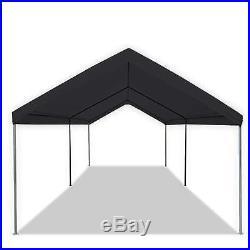Black Portable 10×20 Carport Canopy Garage Tent Shelter ...