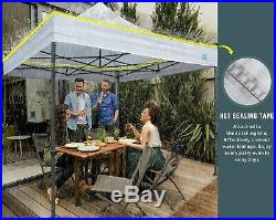 CASCAD CANOPY 10' x10' Ez Pop Up Canopy Tent with DIY Banner Awning-Outdoor