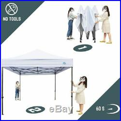 CASCAD CANOPY 10' x10' Ez Pop Up Canopy Tent with Removable DIY Banner Outdoor