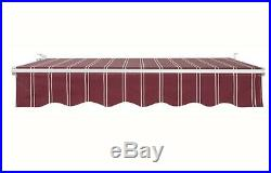 CLEARANCE! 13ft×11.5ft Retractable Awning Home Patio Cover &Yard Sun Shade