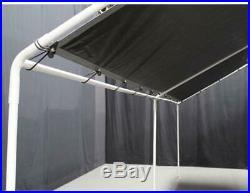 Canopy Carport Metal Waterproof Fire Retardant 10 x 20 ft. 6 legs Silver