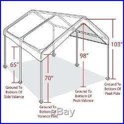 Canopy Carport Portable Garage Tent Kit Storage Boat Car Truck Shelter Party Sun
