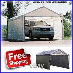 Canopy Enclosure Kit 12x20' Shelter Portable UV Protection Garage Car Port Cover