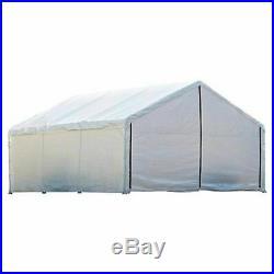 Canopy Enclosure Kit 12x30' Shelter Portable UV Protection Garage Car Port Cover