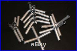 Canopy Frame Connector Fittings, 9 fittings for 1-3/8 inch low pitch canopy