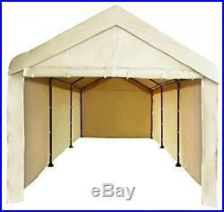 Canopy Garage Tent Carport Car Shelter Big Portable Cover Enclosure Tan 10x20