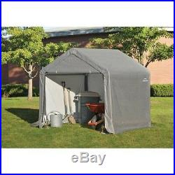 Canopy Storage Shed Carport Portable Garage Gray Barns Outdoor Garden Storage