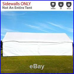 Canopy Tent 7' High Solid White Sidewall Kit Water Resistant PE Privacy Panels