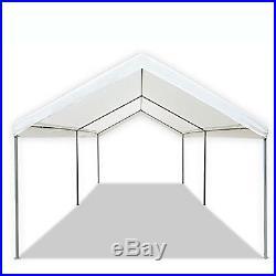 Caravan Canopy Domain 10 x 20 Foot Straight Leg Instant Canopy Tent Set, White
