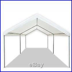 Caravan Canopy Domain 10x20 ft Straight Leg Instant Canopy Tent-White (Open Box)