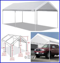 Caravan Canopy Sports 10' X 20' White Domain Carport Garage, Durable Steel Frame
