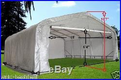 Carport 20'x22' GARAGE Storage Canopy Shed Carport Grey/White