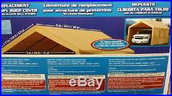 Carport Canopy Roof Top Replacement Cover for Costco Shelter 10' x 20' HD NIB