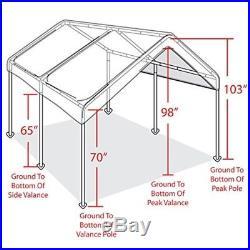 Carport Canopy Tent Frame Shelter Car Boat Truck Garage Storage Shade Metal Big  sc 1 st  Patio Awnings Canopies And Tents & Carport Canopy Tent Frame Shelter Car Boat Truck Garage Storage ...