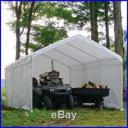 Carport Shelter Canopy 12 X 20 White Canopy Enclosure ShelterLogic Caravan NEW