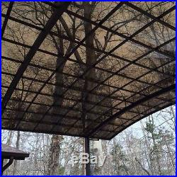 Carport, canopy, car shelter, garage with aluminum alloy frame and PC sheet