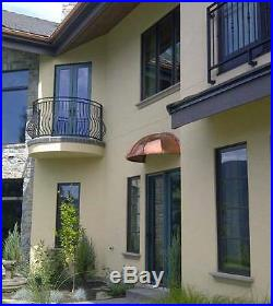Classic Arch Copper Awning 48 X 24 X 16 by ClassicCopper. Com