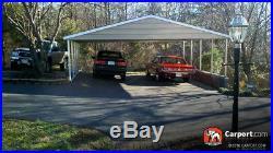 Custom 3 Car Metal Carport 26 Wide x 24 Length x 7 High