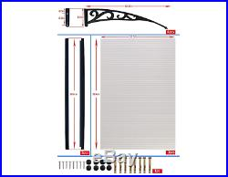 Door Canopy Awning Back Window Rain Shelter Front Porch Covers Shades DIY NEW