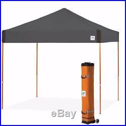 E-Z UP Pyramid 10 x 10ft Canopy Instant Shelter Easy Up Steel Grey