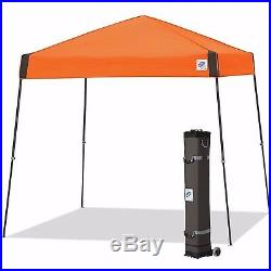 E-Z UP Vista Instant Shelter 10'x10' Canopy Steel Orange Pop Up