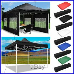 EZ Pop Up Canopy Outdoor Commercial Sunshade Wedding Party Instant Tent 10' 20