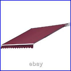Electric Retractable Awning 3.5x2.5m Red Canopy Waterproof Patio Cassette Shade