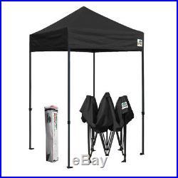 Eurmax 5x5 Black Ez Pop Up Commercial Canopy Party Outdoor Vendor Gazebo Tent