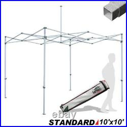 Eurmax Standard 10x10 Pop Up Canopy Outdoor Party Tent Frame with Roller Bag