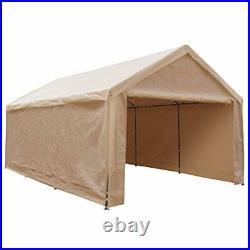 Extra Large Heavy Duty Carport w Removable Sidewalls Portable Garage Car Canopy