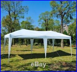 Ez Pop Up Gazebo Wedding Party Tent Folding Coffee Canopy withCarry Bag 10' x 20