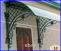 Forged Wrought Iron Door Canopy Over the Door Rain Shelter Window Roof